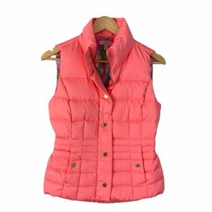 Lily Pulitzer Isabelle Coral Down Puffer Vest